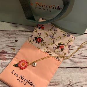 Les Nereides Pink Daisy Necklace